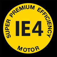 Logotip pogonskega motorja Super Premium Efficiency IE4